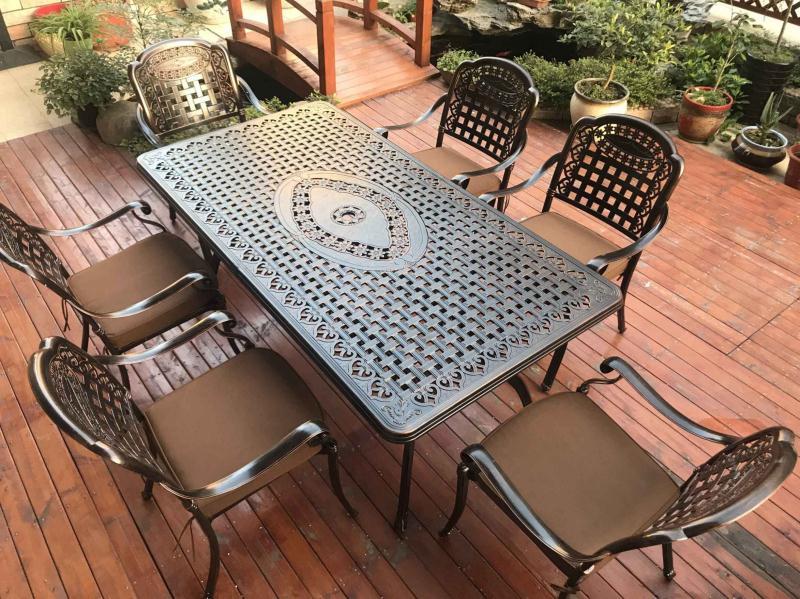 Bộ bàn ghế nhôm đúc ngoài trời -BG03