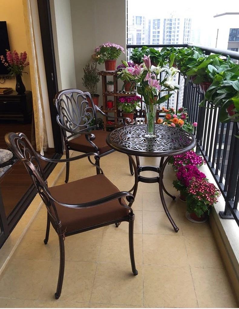 Bộ bàn ghế nhôm đúc ngoài trời -BG01