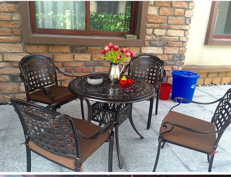 Bộ bàn ghế sân vườn ngoài trời nhôm đúc -BG02