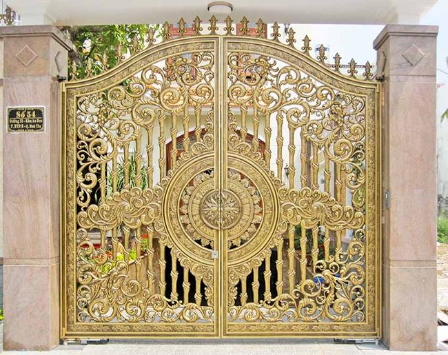 Thi công cổng nhôm đúc tại Đông Anh Hà Nội
