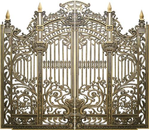 Cổng nhôm đúc - Mẫu Cửa nhôm đúc 01