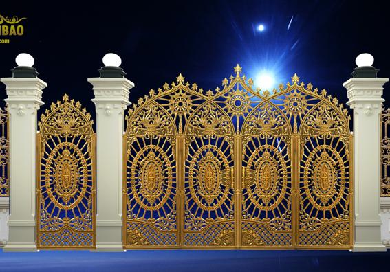 Mẫu cổng nhôm đúc - mẫu 52: Cổng nhôm đúc kiến trúc pháp