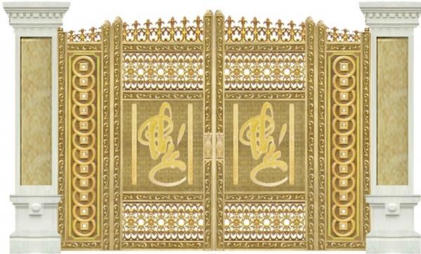 Mẫu thiết kế cổng biệt thự đẹp sử dụng cổng nhôm đúc
