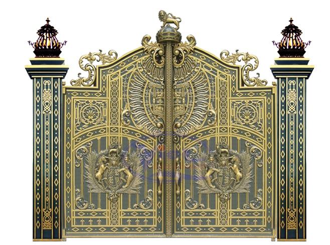 Thi công cổng nhôm đúc biệt thự cổ điển tại Hà Nội