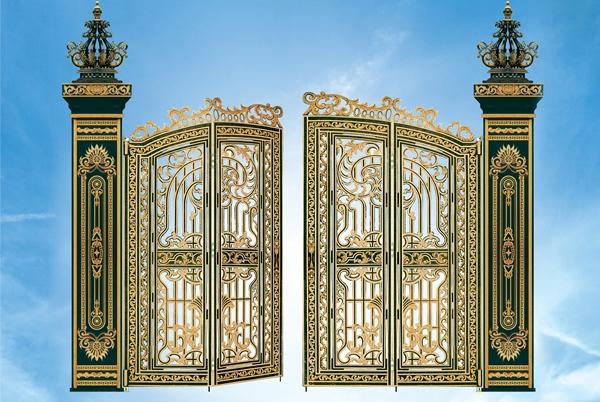 Mẫu cổng nhôm đúc- mẫu 54