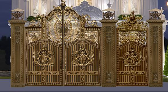 Mẫu cổng nhôm đúc - Mẫu 57 : Mẫu cổng Buckingham đúc kín