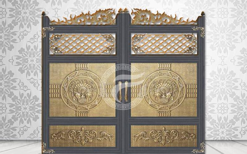 Cổng nhôm đúc - Mẫu cổng nhôm đúc HG11