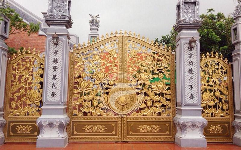 Công trình thi công cổng nhôm đúc nhà thờ tại Tiền Hải Thái Bình