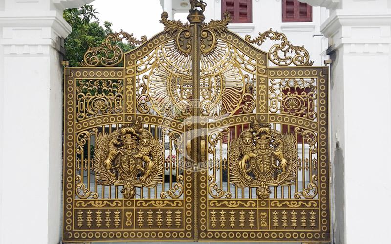 Cổng nhôm đúc Linh Đàm Hà Nội