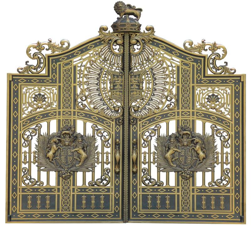 Thi công cổng nhôm đúc tại Đan Phượng,Hà Nội