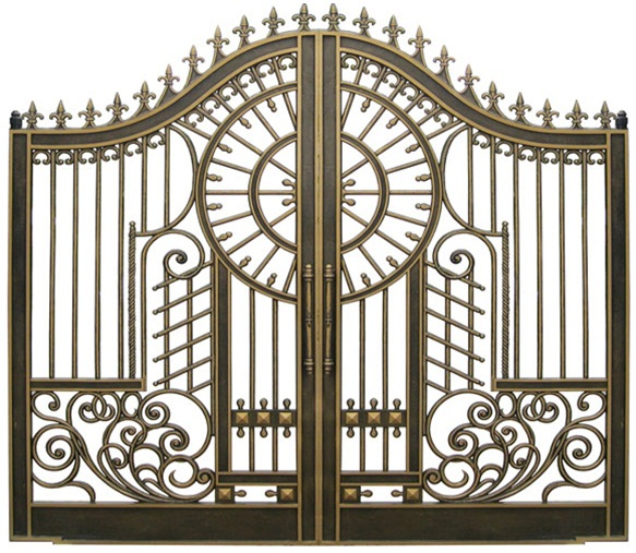 Cổng nhôm đúc có thiết kế phù hợp với cổng biệt thự