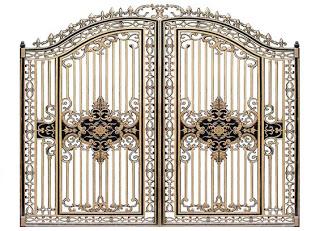 Cổng nhôm đúc - Mẫu cổng nhôm đúc HG4