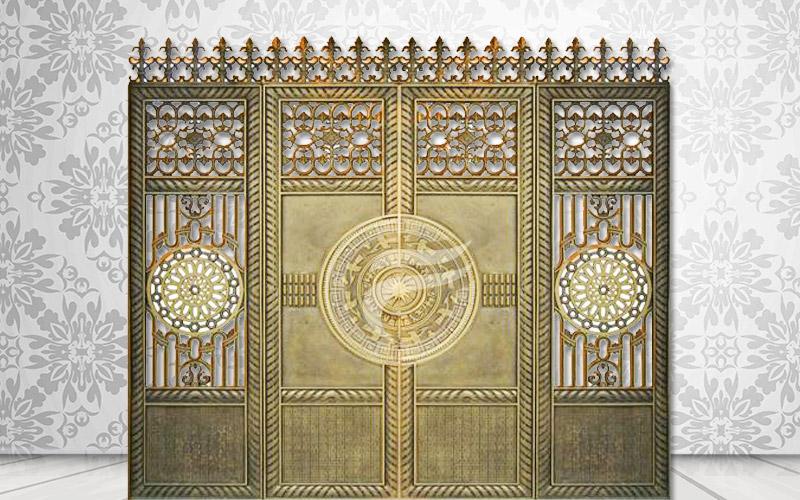 Mẫu cổng nhôm đúc hợp kim nhôm-HG2