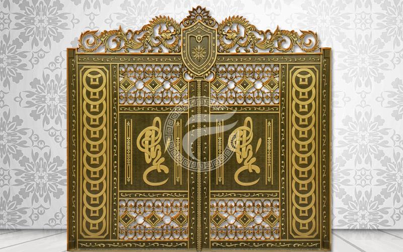 Cổng nhôm đúc - Mẫu cổng nhôm đúc HG9