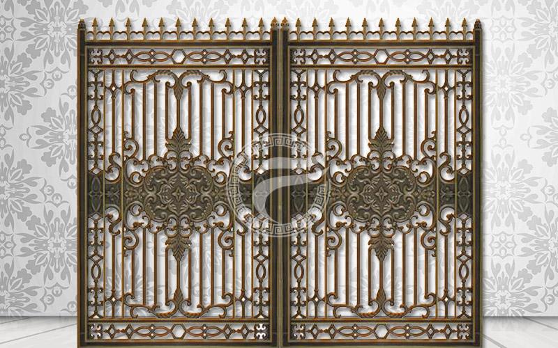 Cổng nhôm đúc - Mẫu Cửa nhôm đúc 02