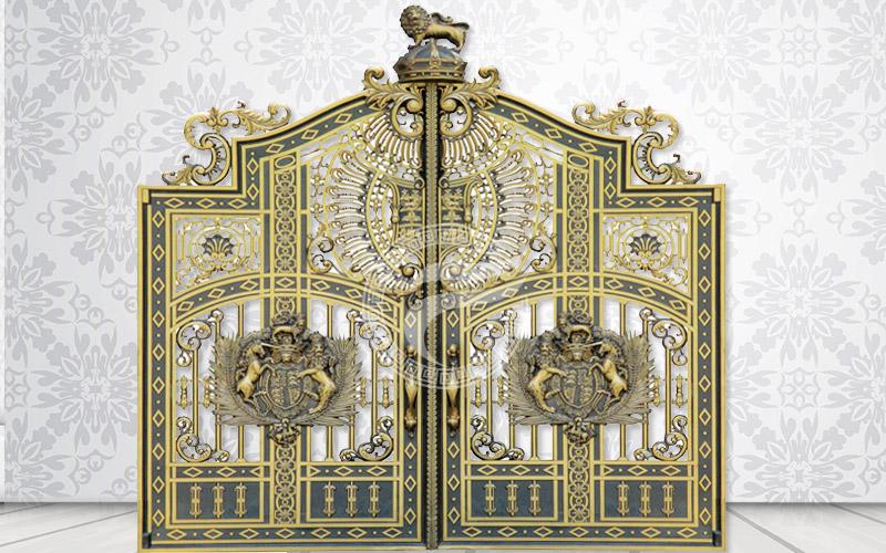 Cổng nhôm đúc- mẫu HG48 : Cổng biệt thự tân cổ điển