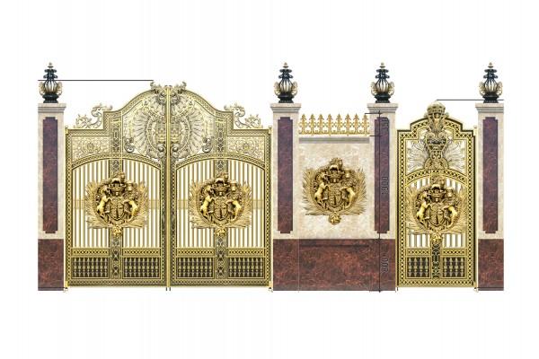 Mẫu cổng nhôm đúc -HG41