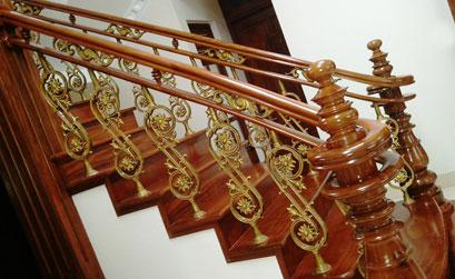 Mẫu lan can cầu thang nhôm đúc HG6