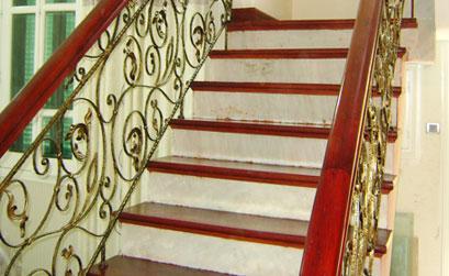 Mẫu cầu thang,lan can cầu thang nhôm đúc-HG4