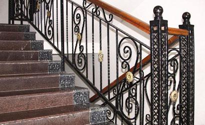 Mẫu cầu thang,lan can cầu thang nhôm đúc-HG1