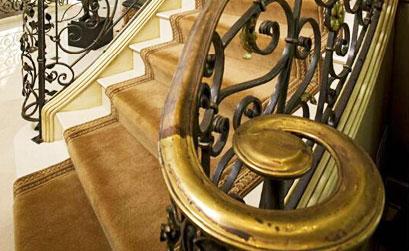 Mẫu cầu thang,lan can cầu thang nhôm đúc-HG2