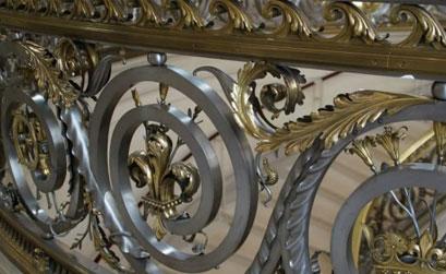 Mẫu cầu thang,lan can cầu thang nhôm đúc-HG3