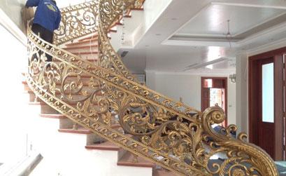 Thi công cầu thang nhôm đúc tại khu đô thị Coma6 Tây Mỗ Từ Liêm Hà Nội