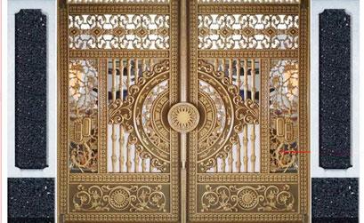 Thi công cổng nhôm đúc tại Tây Nam Linh Đàm Hà Nội