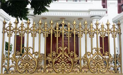 Hàng rào nhôm đúc HG6 - Mẫu hàng rào biệt thự