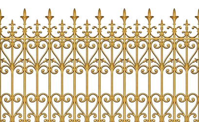 Mẫu hàng rào biệt thự-Hàng rào nhôm đúc HG5