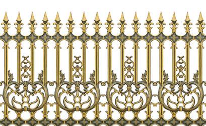 Mẫu hàng rào biệt thự-Hàng rào nhôm đúc HG4