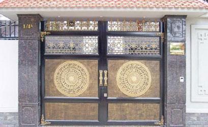 Mẫu cổng biệt thự đẹp 2 cánh