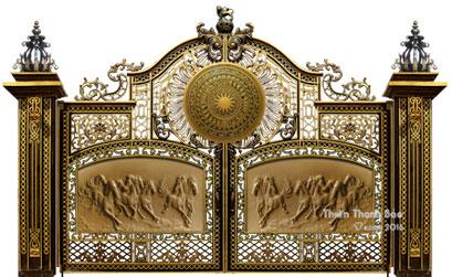 Mẫu cổng nhôm đúc - HG47