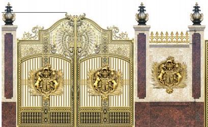 Dự án thi cổng cổng nhôm đúc tại Cổ Nhuế Từ Liêm Hà Nội