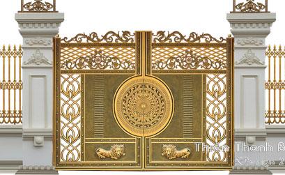 Mẫu cổng nhôm đúc - HG46