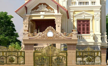 Cổng nhôm đúc tại Biên Hòa