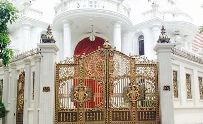 Thi công cổng nhôm đúc Tân Thuận Đông Quận 7 : Cổng nhôm đúc Quận 7