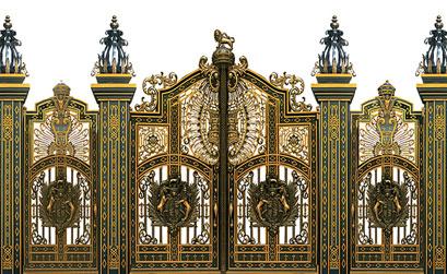 Mẫu cổng nhôm đúc,trụ cổng nhôm đúc