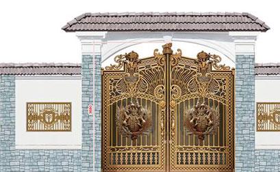Thi công lắp đặt cổng nhôm đúc,bông gió nhôm đúc tại biệt thự Phú Mỹ Hưng
