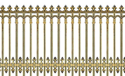 Hàng rào biệt thự - Hàng rào nhôm đúc 02