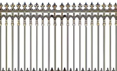 Hàng rào biệt thự - Hàng rào nhôm đúc 04