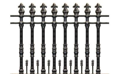 Hàng rào nhôm đúc - Mẫu hàng rào nhôm đúc -06