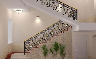 Lan can cầu thang nhôm đúc - 01