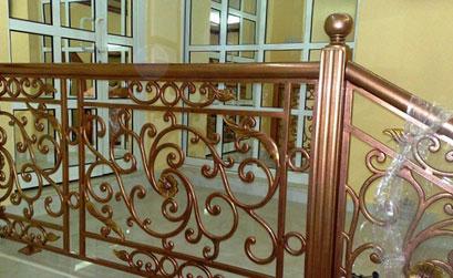 Lan can cầu thang nhôm đúc - 05