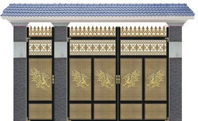 Mẫu cổng biệt thự bằng nhôm đúc