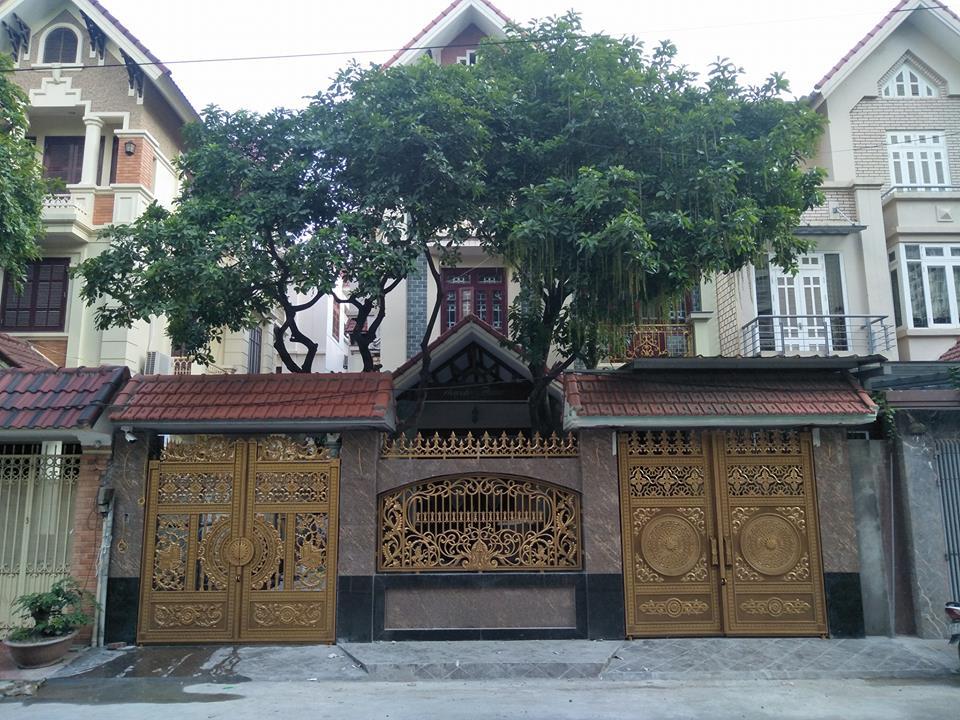 Công trình Cổng nhôm đúc tại Hàm Nghi khu Mỹ Đình 2 Hà Nội