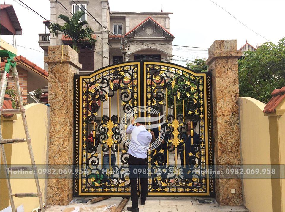 Nhôm đúc FACO thi công lắp đặt cổng nhôm đúc tại Lại Đà Đông Hội - Đông Anh- Hà Nội