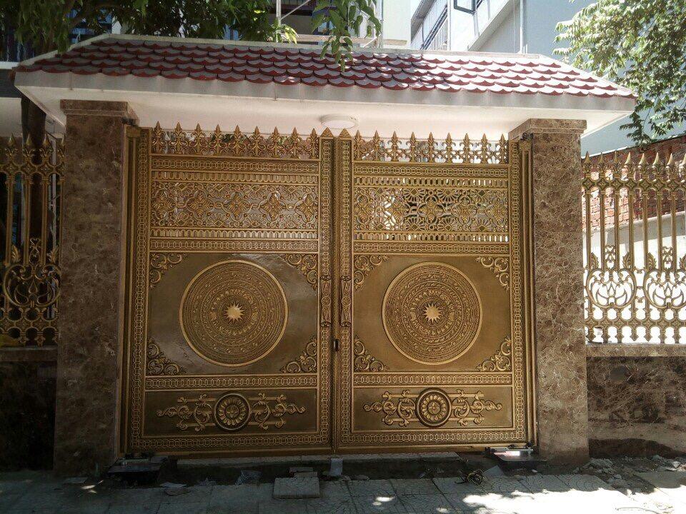 Cổng nhôm đúc tại Gia Lâm Hà Nội