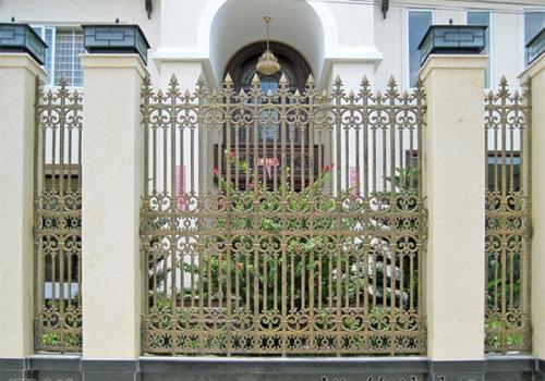 hàng rào biệt thự,hàng rào nhôm đúc
