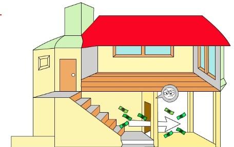 Cách hóa giải khi cửa chính đối diện với cầu thang